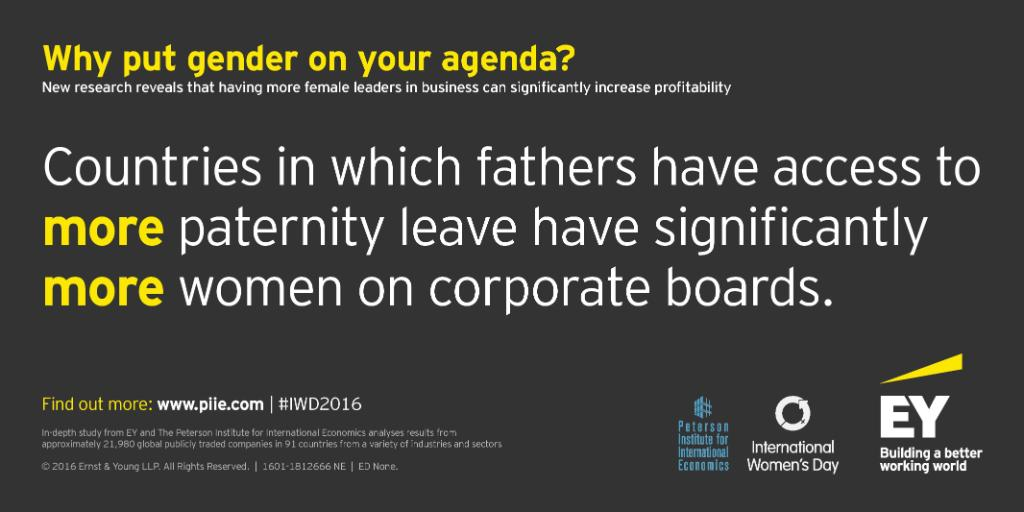 Paternity leave can allow everyone to achieve their ambitions. #PledgeForParity #IWD2016 https://t.co/9tlLWX5JNI https://t.co/CH0kxeLhtc
