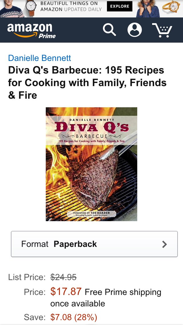 Now available for preorder Diva Q's #BBQ 195 recipes for cooking with Family,Friends & Fire https://t.co/iWF3fE92XP https://t.co/bDYZo4fEES