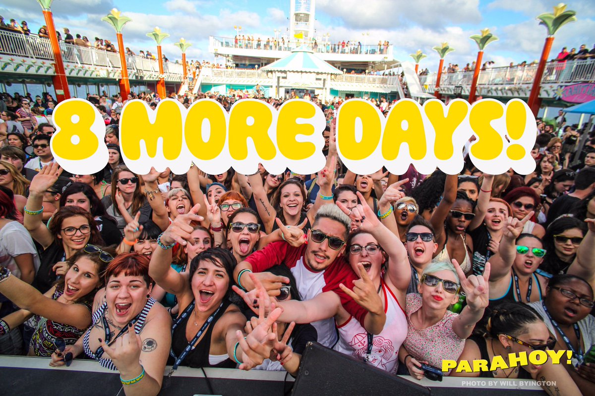 We are only 8 days away from #PARAHOY! @Paramore #Paramore #SXMliveloud https://t.co/jSFsI0UynR