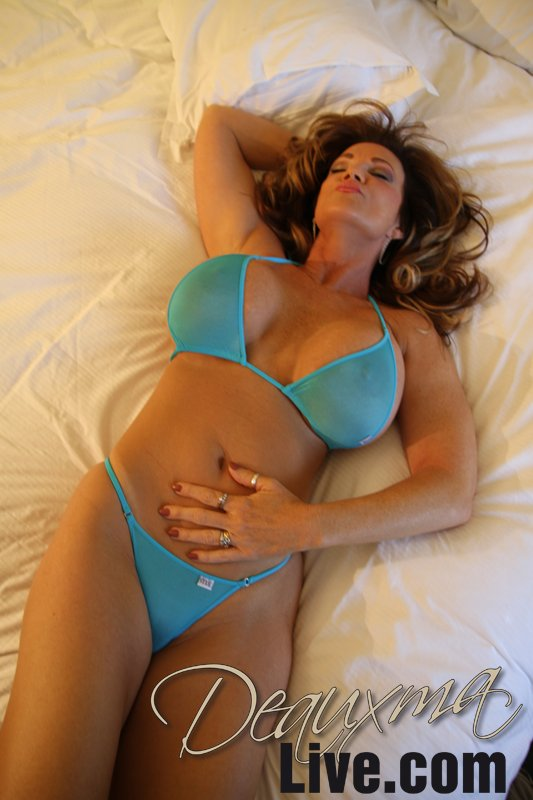 Naughty MILF with shapely boobs Deauxma takes off underwear  344560