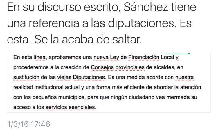 Sánchez se salta, durante su discurso de #SesionDeInvestidura, los trozos del acuerdo con C's que no quiere cumplir