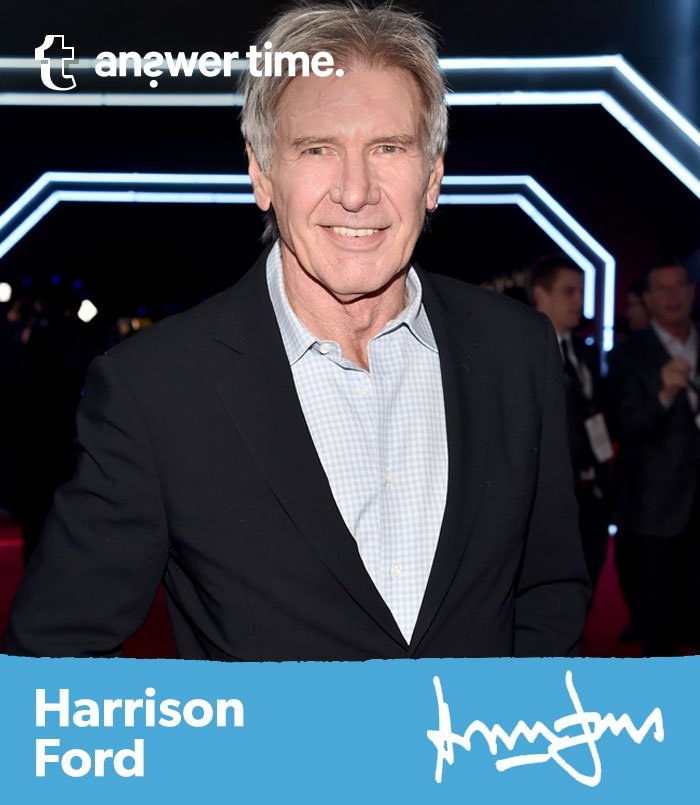 Calling all StarWars fans: Harrison Ford is taking over our @Tumblr on Monday!