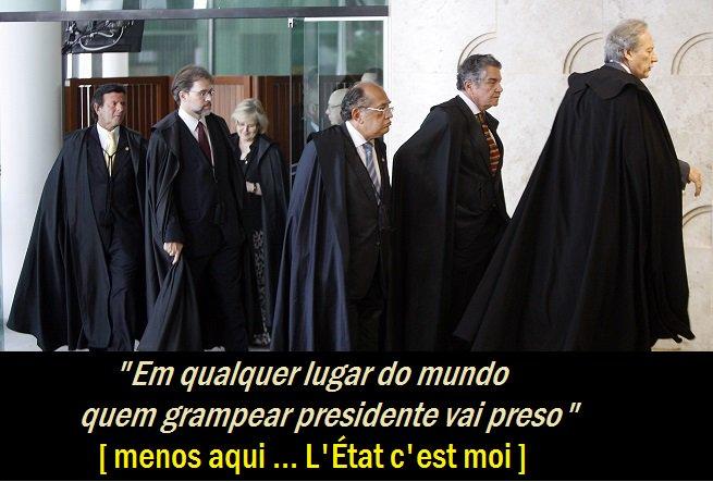 """@palmeriodoria #VemPraDemocracia""""Em qualquer lugar do mundo quem grampear presidente vai preso"""" (MENOS AQUI) https://t.co/7MArk27HB2"""