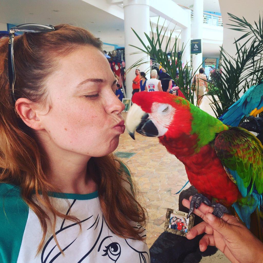 Parrot kisses https://t.co/StoxGnCY27