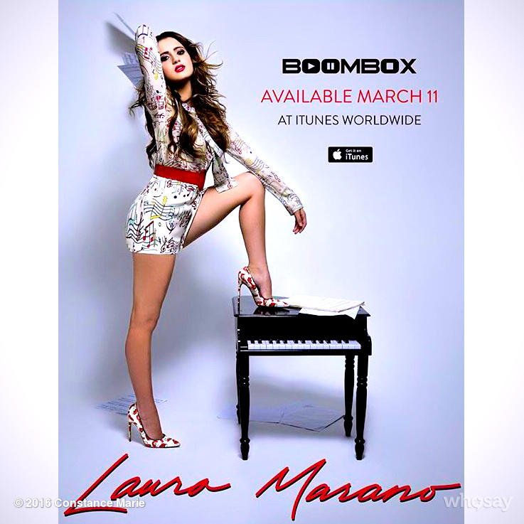 #FF Everyone check out @lauramarano & her NEW SINGLE #Boombox  It's got my booty wigglin! https://t.co/2xDJFXhbtq https://t.co/AYOGR1N87y