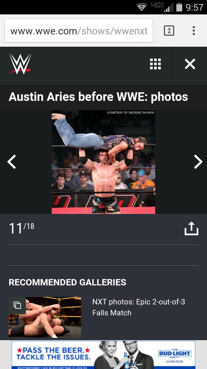 I finally made it to #wwe....... Well at least the web page. Thanks @AustinAries ha https://t.co/OD9neMxOro