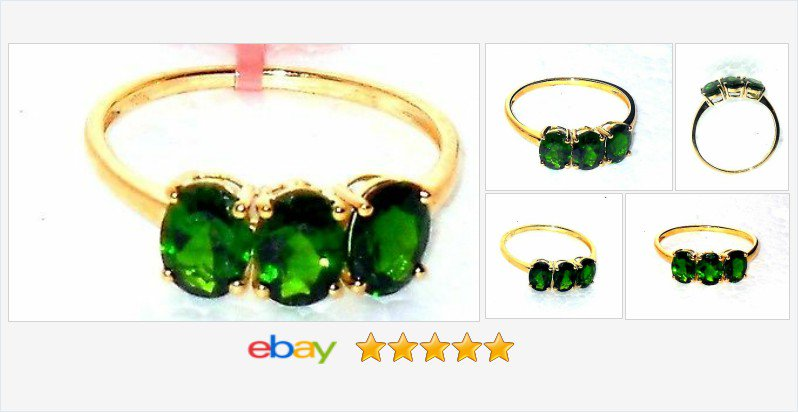 Russian Diopside 3 stone 10K Yellow Gold 3 cts size 7 50% OFF #EBAY https://t.co/meAJ5xo00z https://t.co/reylvvQxEk https://t.co/nPHnwmWaQA
