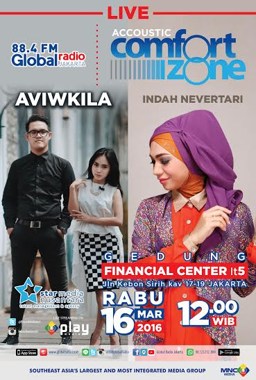 Jangan lupa besok jam 12 siang Accoustic Comfort Zone di Gd Financial Center Lt.5 ada  @indah_nevertari & @Aviwkila https://t.co/R9BHL2GMtd