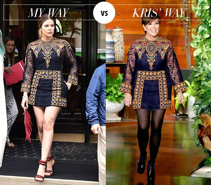 This time, it's me vs @KrisJenner!!! Who wore it better? It's up on khloewithak! https://t.co/QrOESnMEB3 https://t.co/A9qIeE4qQL