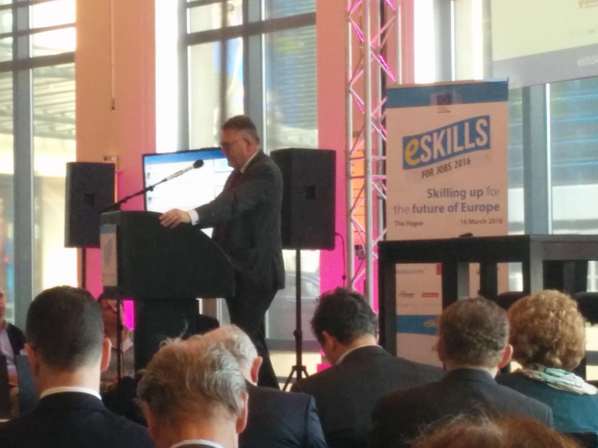 """Digital skills is the key for Europe's Renaissance to be inclusive"" @nicolasschmit2 at #eSkillsNL @eskills4jobs https://t.co/CXZ8c0IyhI"
