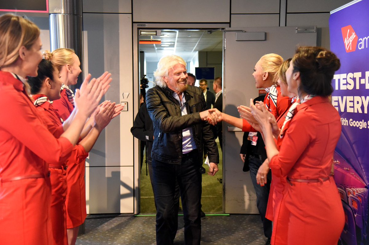 RT @Virgin: .@RichardBranson joins the mile high debate club: @virginamerica