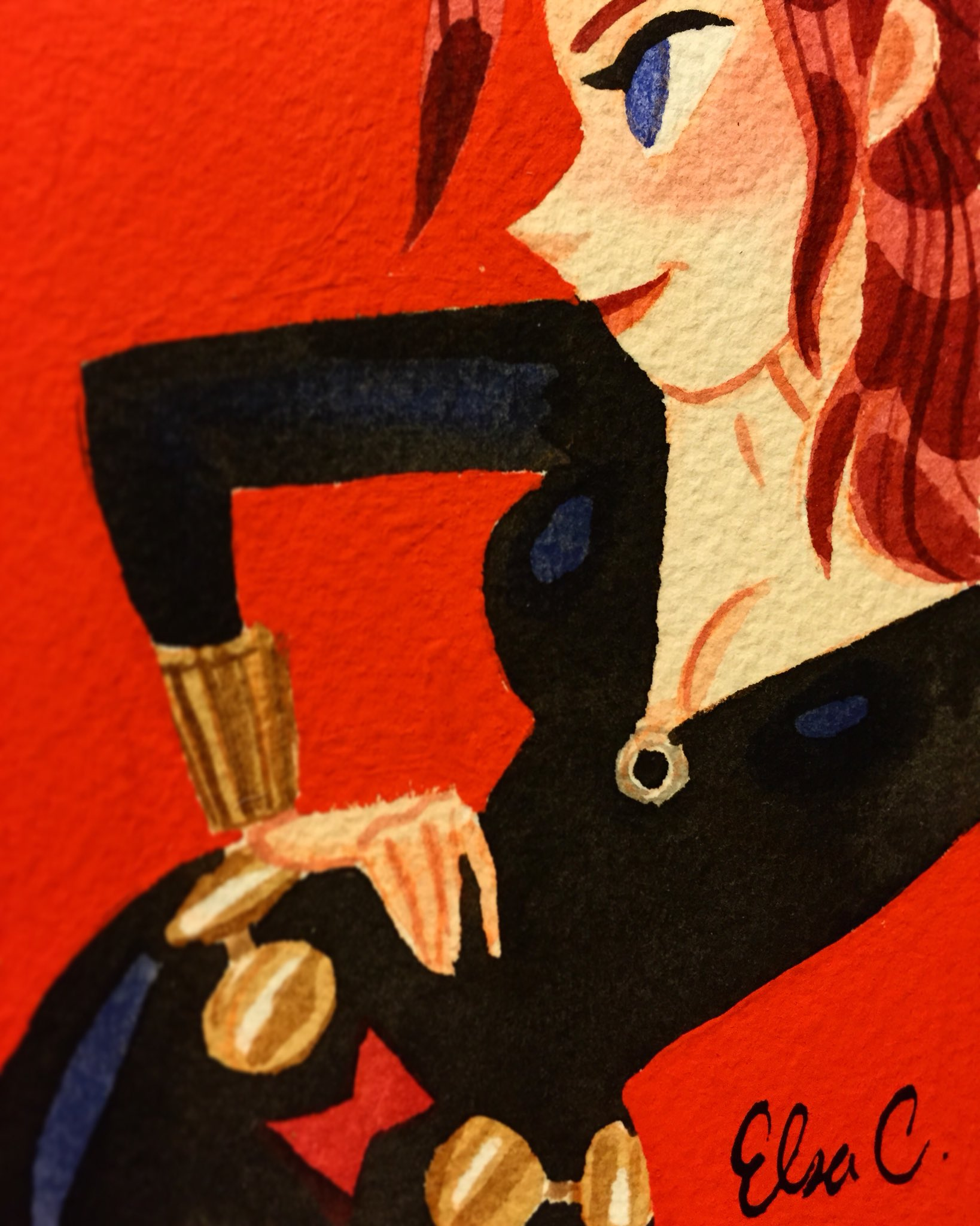 Black Widow #gouache #watercolor https://t.co/cZI3GuDTK3