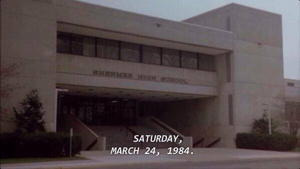 The Breakfast Club met for detention... 30 years ago today! https://t.co/OTFNWLmxRz