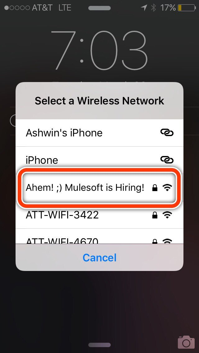 Well played @MuleSoft Caltrain recruiter rider https://t.co/xVyxmBi5bT