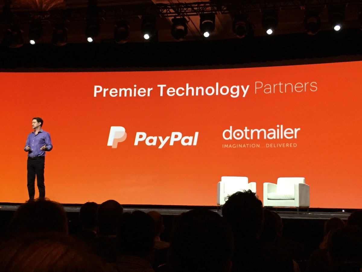 tinktaylor: .@magento Premier technology partners @dotmailer @PayPal #MagentoImagine https://t.co/cZDNVITuoN