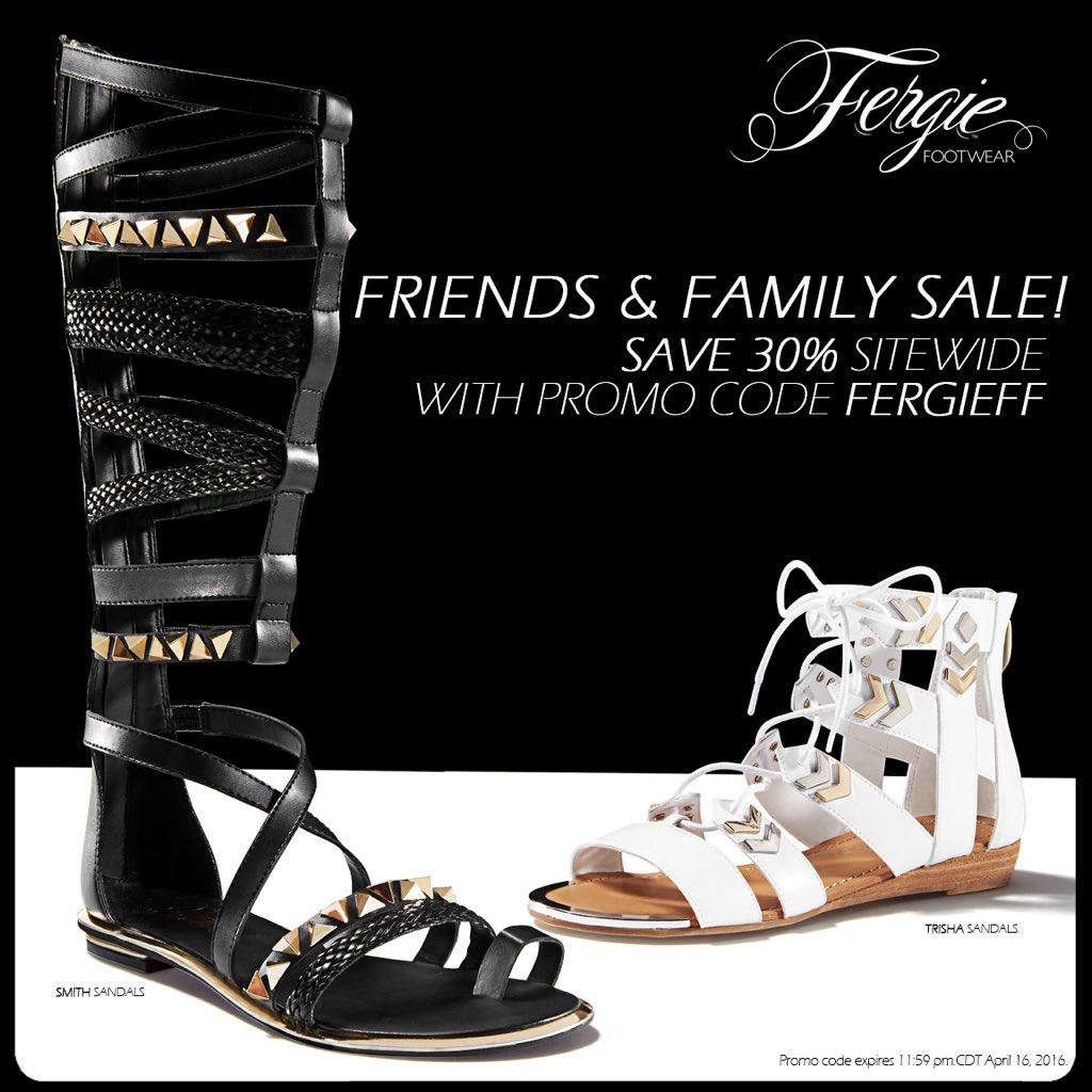 RT @FergieFootwear: #FriendsAndFamilySale:Thru 4/16 take 30% OFF @Fergie #shoes w/ #promocode FERGIEFF!#shoesale https://t.co/5BndiP5lGs ht…