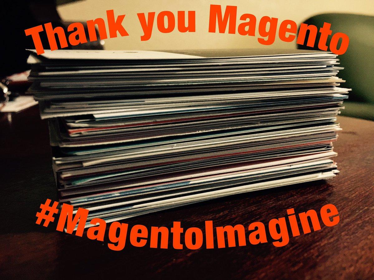 molme: It's was a great pleasure to be here! My FIRST but definitely not last #MagentoImagine https://t.co/ZZcXtZwEBM