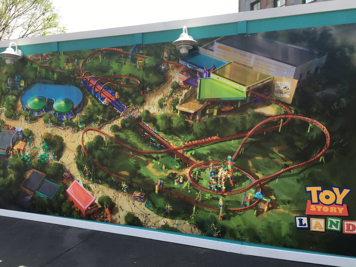 New concept art for Toy Story Land on construction wall that blocks of the backlot area. #HollywoodStudios https://t.co/veehhWVwyI