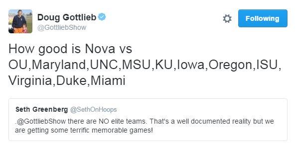 Iowa ✔️ KU ✔️ OU ✔️ UNC ✔️  Heh.. https://t.co/no2PtU5F1T