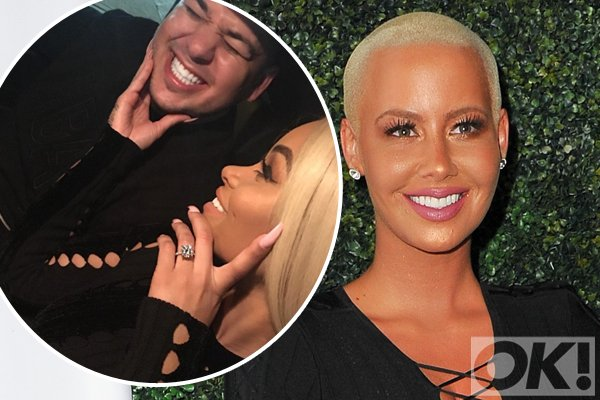 Amber Rose confirms best friend @BLACCHYNA is ENGAGED to @robkardashian:
