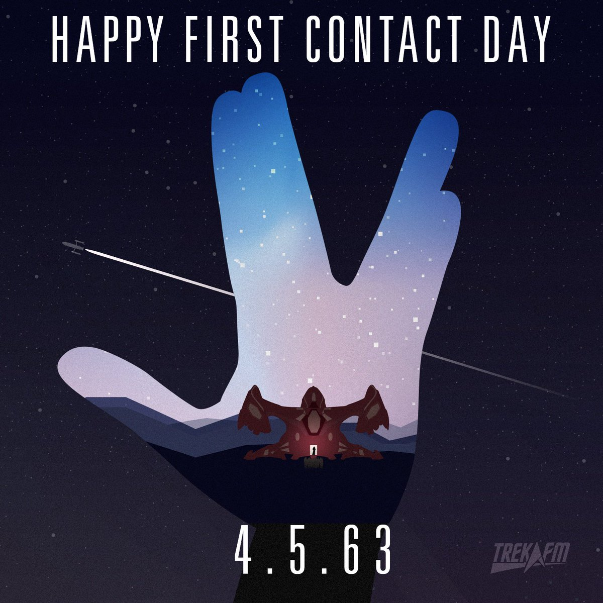 Only 47 years to go. Happy #FirstContactDay from all of us at Trek.fm! https://t.co/t5M7evvAlA