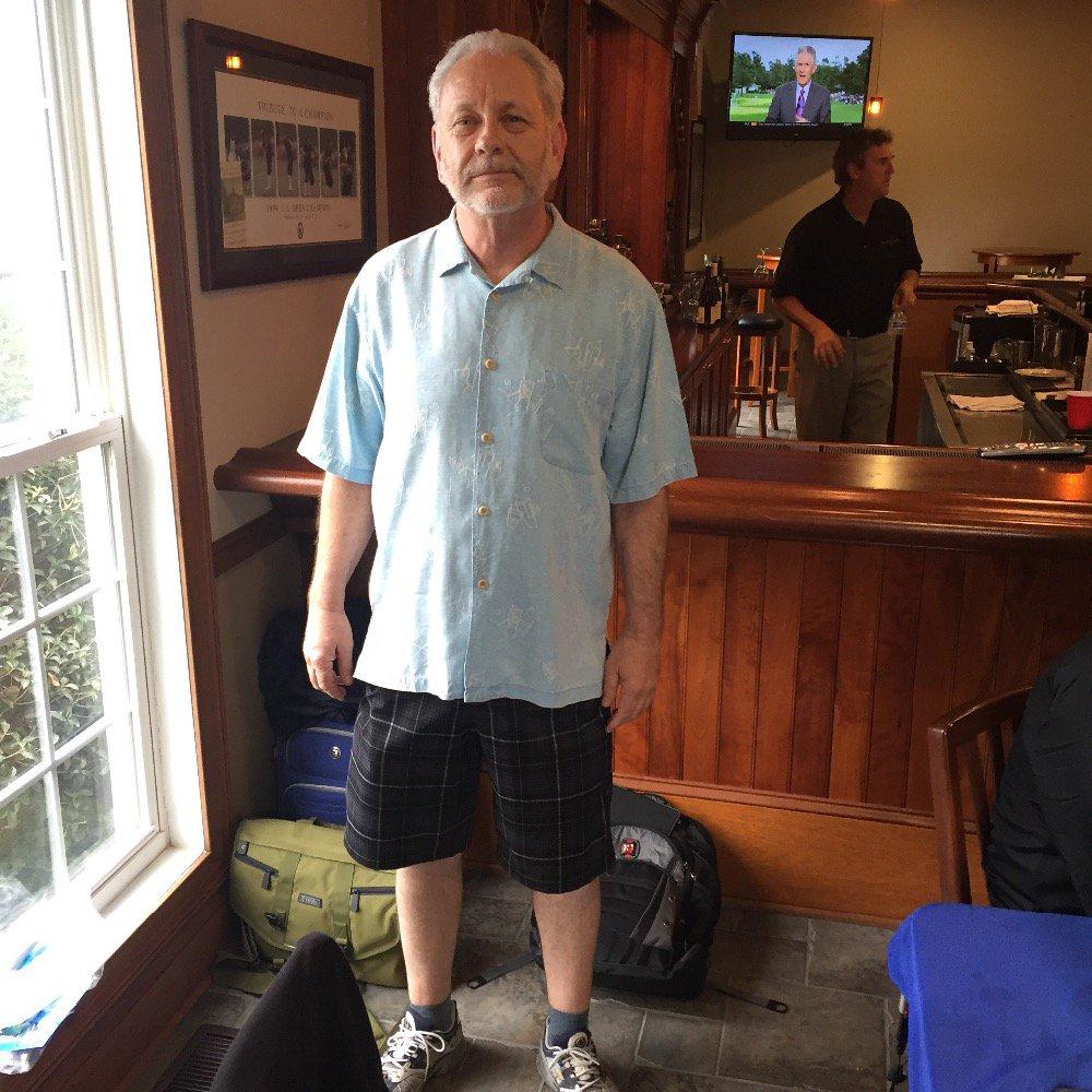 @theoldgreywolf and his golf attire @corbydavidson @badkaratemovie https://t.co/00pl5gYTi0