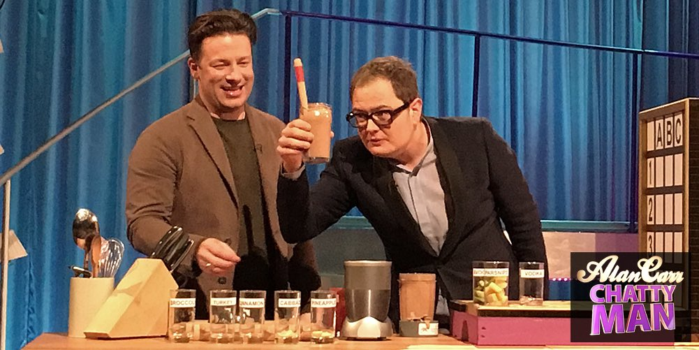 RT @chattyman: Mmm delicious! We'll be blending with @jamieoliver in tonight's #chattyman 10pm @Channel4 ???????????? https://t.co/NQOT1T8cIf