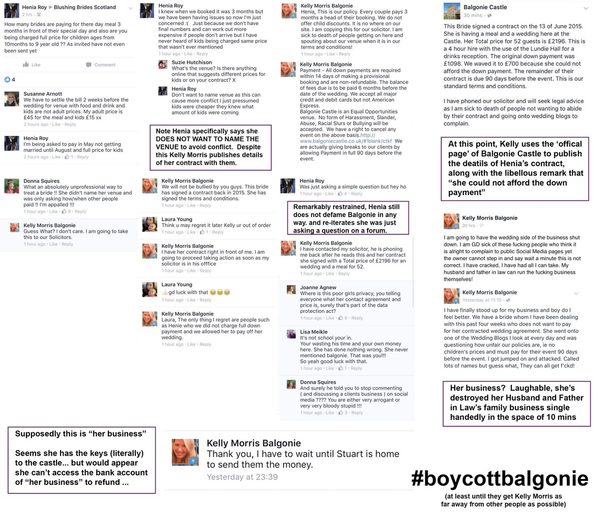 Wondered #boycottbalgonie / @balgoniecastle thing was about? - this is a good summary - how not to do social media! https://t.co/f9tn8m14SA