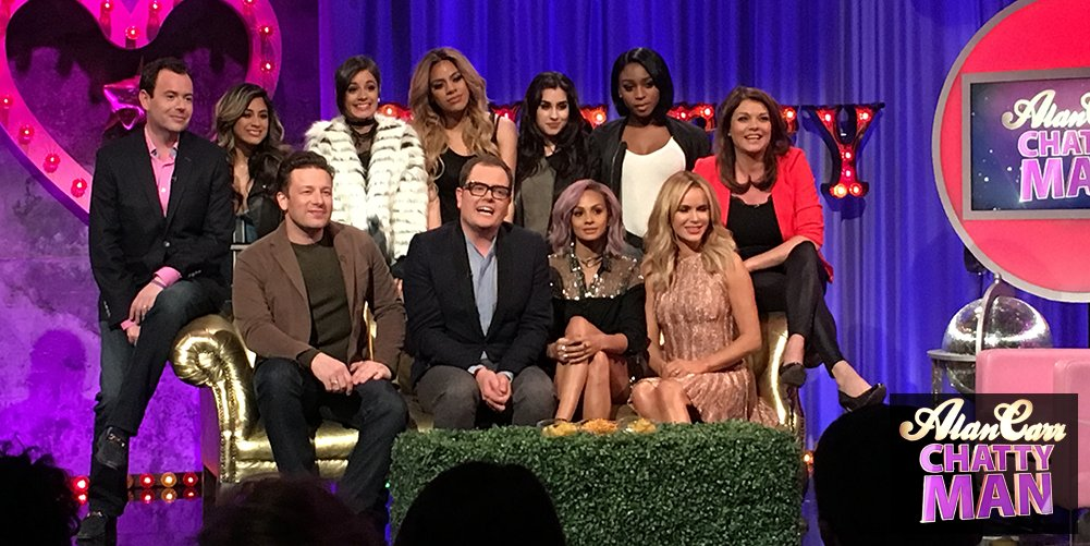 RT @chattyman: ❤️ for #CHATTYMAN TONIGHT w/ @jamieoliver @AleshaOfficial @AmandaHolden @goedeleliekens @nickluck & @fifthharmony!! https://…