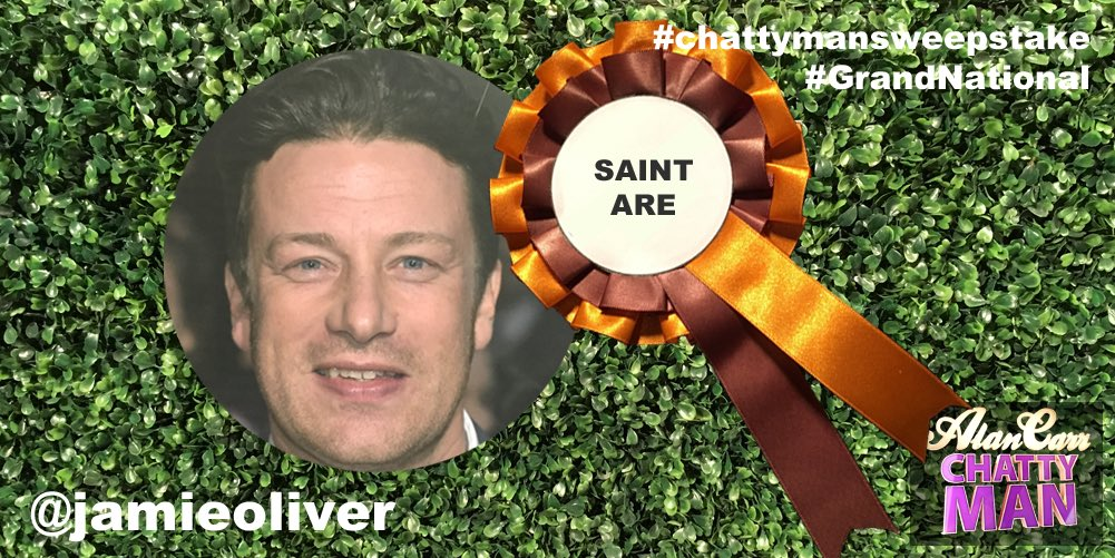RT @chattyman: .@jamieoliver has picked a good'un in Saint Are! 2nd last yr. First this year? #GrandNational #chattymanSweepstake???? https://…