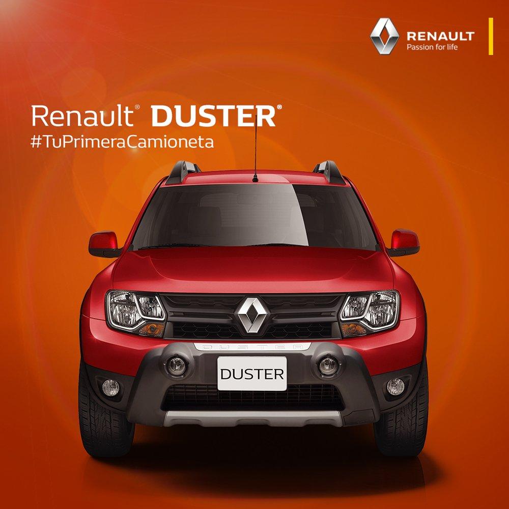 Un nuevo frente para vivir las mejores aventuras. La nueva #RenaultDuster#TuPrimeraCamioneta https://t.co/ZLeIZxc98b https://t.co/p8KrZ0OTTN