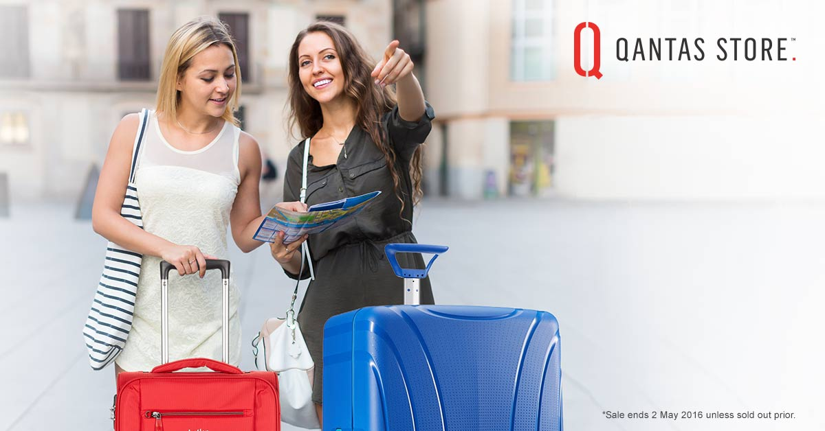Save up to 50% on top brands at the Qantas Store Luggage Sale. Redeem your Qantas Points: