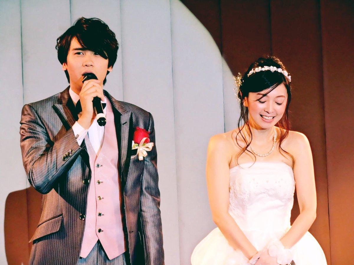 石井マークさんと榎本温子さんの結婚パーティーに伺ったよ( ´ ▽ ` )最後の挨拶で照れもせず、マークさん「あっちゃんのことが、大好きなんで!」って…!素敵なカップル…