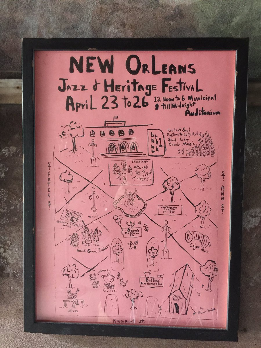 First (daytime) New Orleans Jazz & Heritage Festival (@jazzfest) poster | Bruce Brice 1970 https://t.co/tU4x3gPNQX