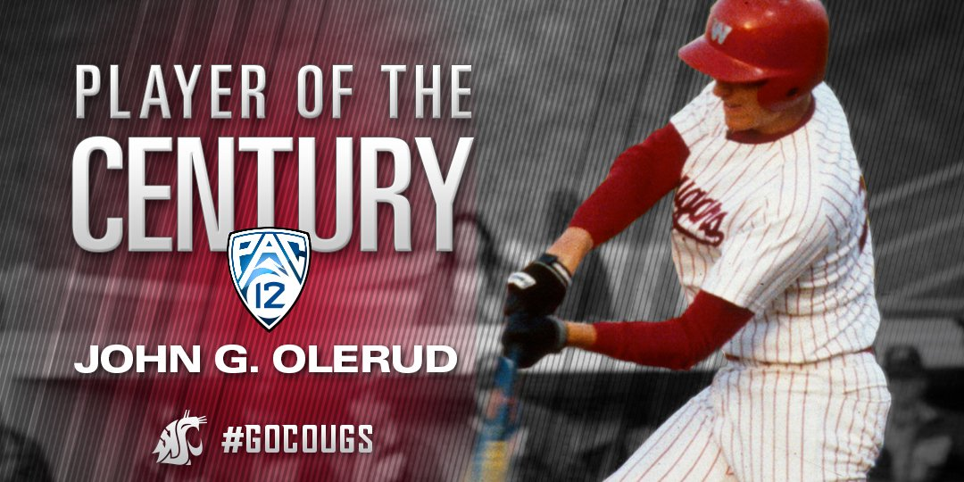 Cougar legend John Olerud is the @pac12 Player of the Century! https://t.co/UQy19ybXiT #GoCougs https://t.co/4N6HEtrjrc
