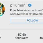 RT @PriyaManiWeb: #PriyaManiholics pls follow the real @priyamani6 on instagram :)  PS: Our Diva finally got the Blue Tick yayyy https://t.…