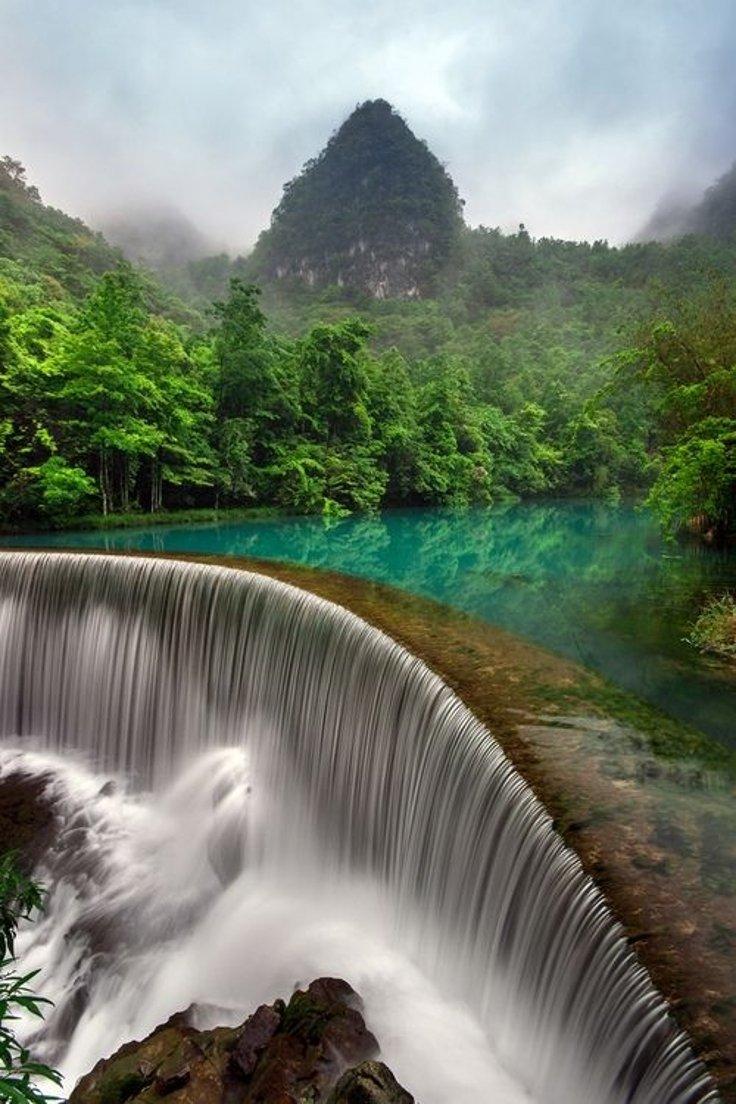 Waterfall In Libo Guizhou, China | Photography by ©Simon Long https://t.co/jTllbzZMXx