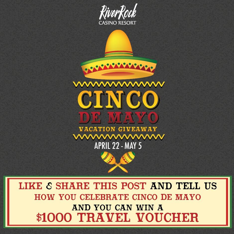 1 lucky winner can win a $1K Travel Voucher on May 5 at 4pm!Like, Retweet & Comment how you celebrate Cinco De Mayo https://t.co/HoUcDk5AzW