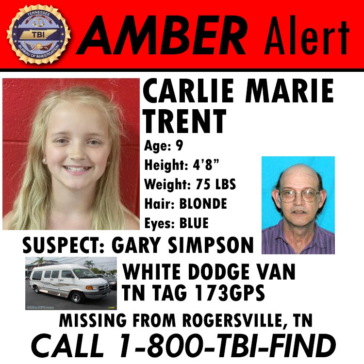 UPDATE: We continue to pursue leads in our search for #CarlieTrent. However, there have been no credible sightings. https://t.co/3wrZJLdqSL