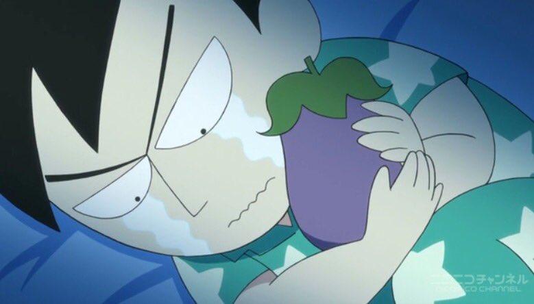 アシベのことが好きすぎてアシベに似た茄子を抱いて寝たりお母さんが作ってくれたアシベ人形を大切にしてたり猿たちにアシベのお