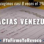El Revocatorio es del pueblo venezolano. En horas más de un millón de venezolanos le dijimos si al cambio. https://t.co/g4yKtapn7j