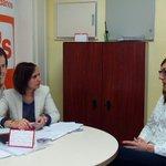 Nos reunimos con @MarinaSaentz, representante de @FTriangulo en Valladolid para luchar contra la discriminación https://t.co/IpFQdWFya0
