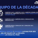 .@ClubSantos, @ClubAmerica y @Rayados buscan ser el mejor de la década; @TigresOficial los sigue de cerca. https://t.co/UHN7NdpqQX