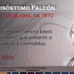 Un #29Abr Muere el Destacado Militar y Líder Venezolano Juan Crisóstomo Falcón.#UnidosSomosRevolucion https://t.co/xPixf3ao0p