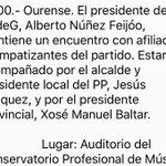 📅 30 de Abril ás 12h no Auditorio de Música de Ourense   ✔️ Núñez Feijoo  ✔️ @ManuelBaltar  ✔️ @jesus_ourense https://t.co/tBTzh7ovDU