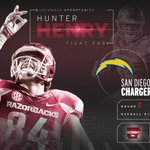 ⚡️ With the 35th pick in the @NFL draft, the @Chargers select HUNTER HENRY! #Uncommon #NFLDraft #ProHogs https://t.co/hSZsrcCwH5
