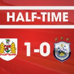 Jonathan Kodjias 19th goal of the season gives #BristolCity the lead at the break. https://t.co/ol4q4gMKLN
