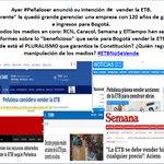 """los medios privados hablando sobre """"beneficios"""" de vender la ETB #ETBNoSeVende #EsDeBogotanos https://t.co/YD9MGLCY0o Vía @nolecreemosaRCN"""
