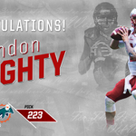 Hes going home!  The @MiamiDolphins select QB Brandon Doughty,a South Florida native, with the 223rd pick! #ProTops https://t.co/vsi8Ipdoln