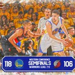 Klay Thompsons playoff career-high 37 Pts lead Warriors to series-opening victory over Trail Blazers, 118-106. https://t.co/cd1GAeTN2k